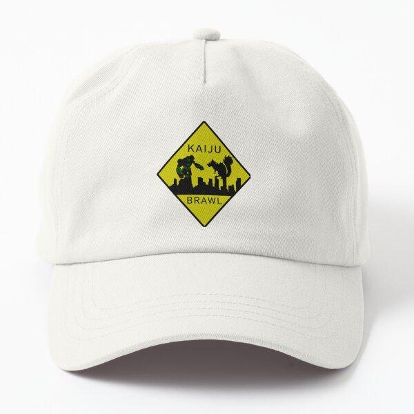 Kaiju Brawl Warning Sign Dad Hat
