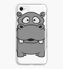 nilpferd klein dick süß niedlich comic cartoon hippo  iPhone Case/Skin