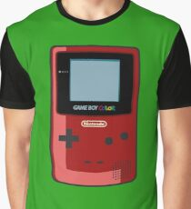 Game Boy Color Red Graphic T-Shirt