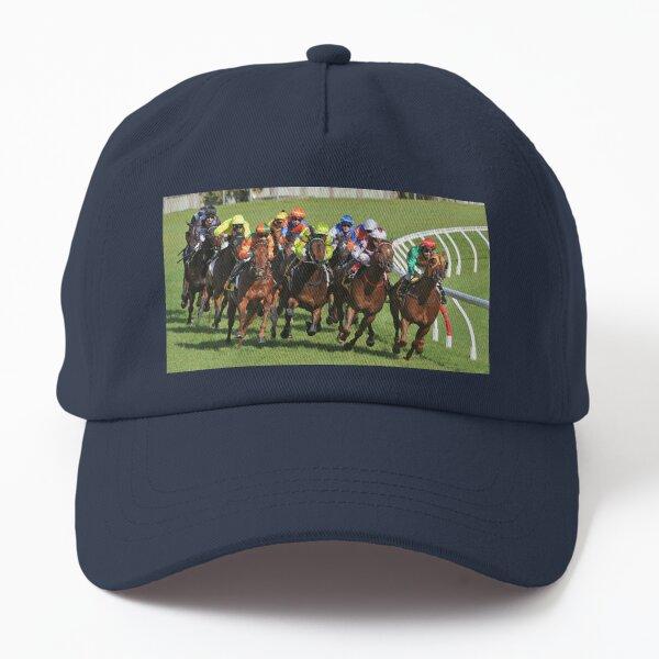 Horse racing action Dad Hat