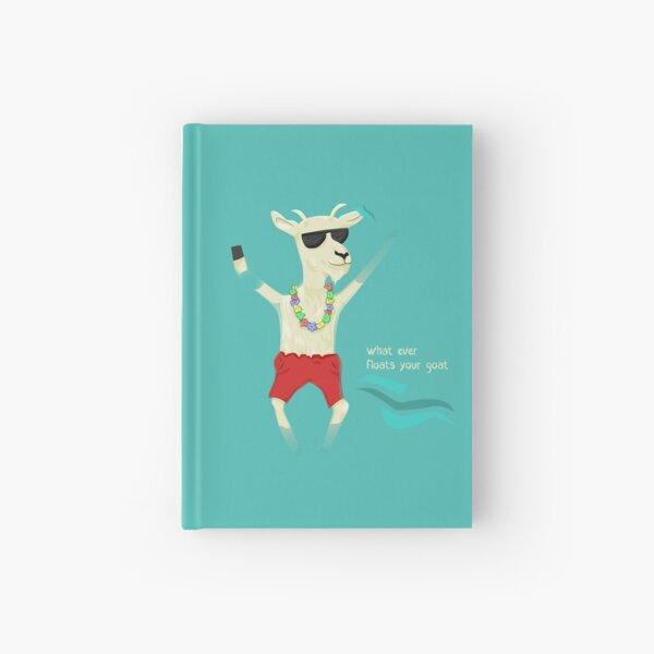 floating goat Hardcover Journal