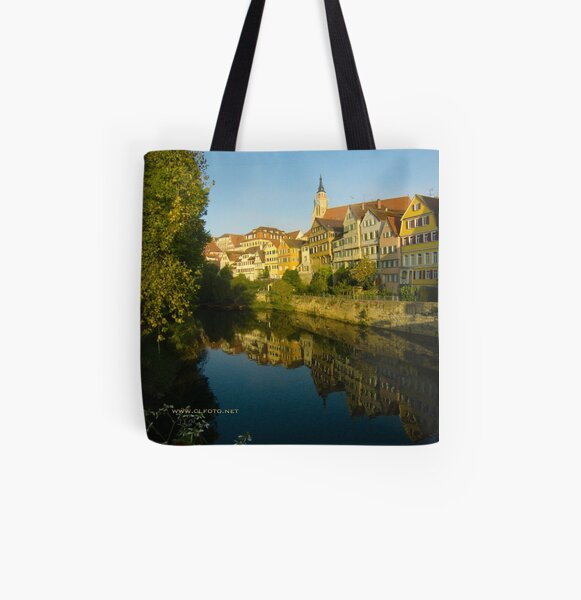 Postcard from Tübingen, Germany All Over Print Tote Bag