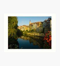 Postcard from Tübingen, Germany Art Print