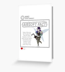Airsoft Fact 3 Greeting Card