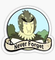 Birdman will never be forgotten Sticker