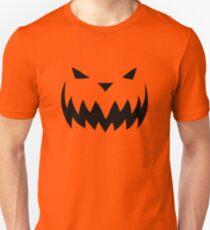 """Knife"" Jack O'Lantern - Halloween- Pumpkin, Orange, Black, All Hallows Eve, Simple, Contemporary Unisex T-Shirt"