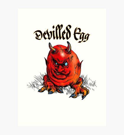 Devilled Egg Art Print