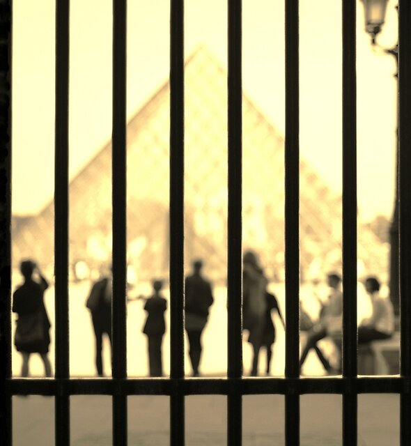 Through the gates of the Louvre - colour  by Denise Couturier