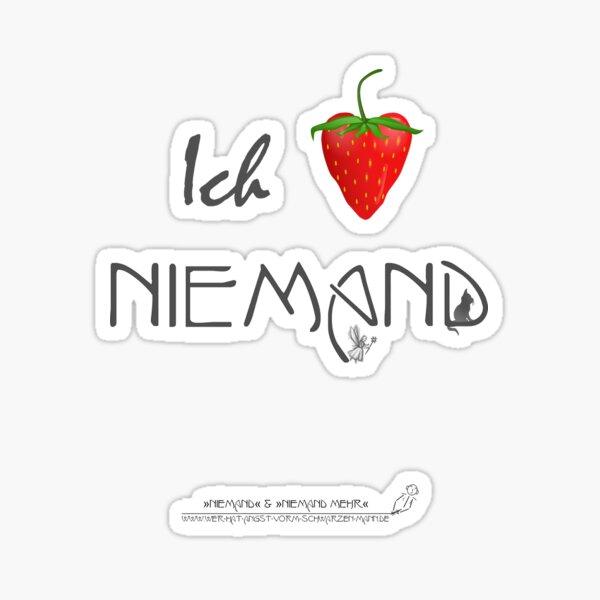 Ich liebe Niemand Sticker