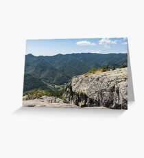Raw Rock Power - Ancient Thracian Ceremonial Site Belintash Greeting Card
