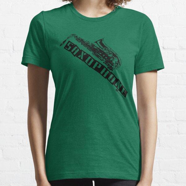 Label Me A Saxophone (Black Lettering) Essential T-Shirt