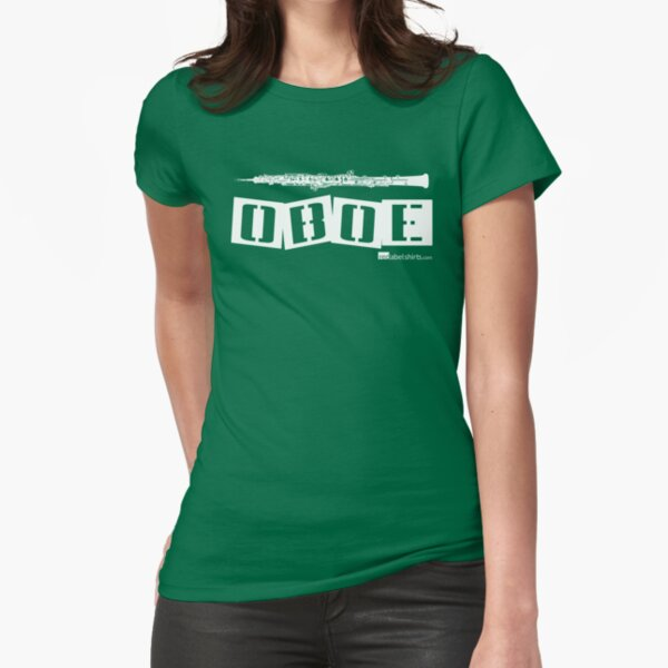 Label Me An Oboe (White Lettering) Fitted T-Shirt