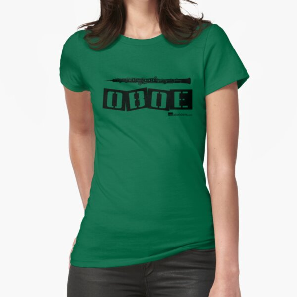 Label Me An Oboe (Black Lettering) Fitted T-Shirt