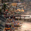 Fishing Boats Cape Coast Ghana by Wayne King