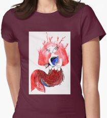 The mermail and the fish Womens Fitted T-Shirt