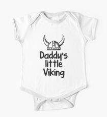 Body de manga corta para bebé Daddy's Little Viking