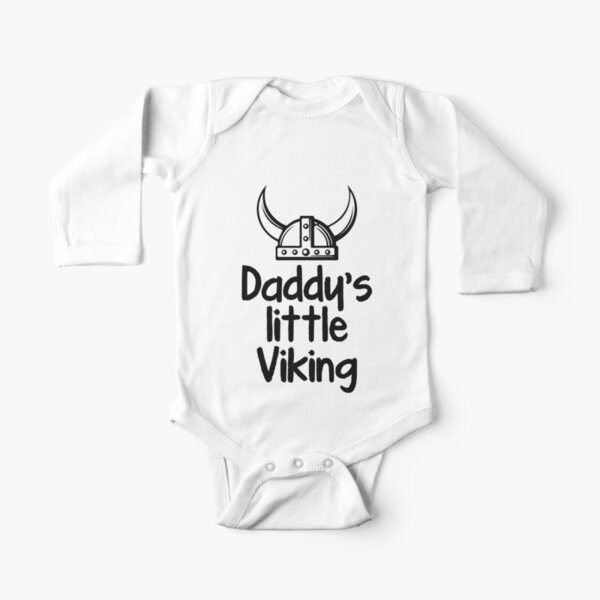 Daddy's Little Viking Long Sleeve Baby One-Piece