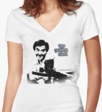 The Golden Shot with Bob Monkhouse Women's Fitted V-Neck T-Shirt