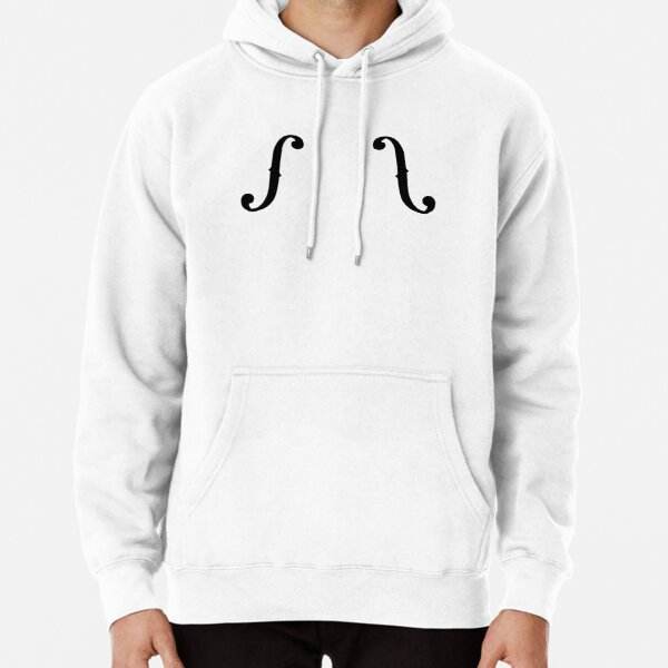 F Hole Pullover Hoodie