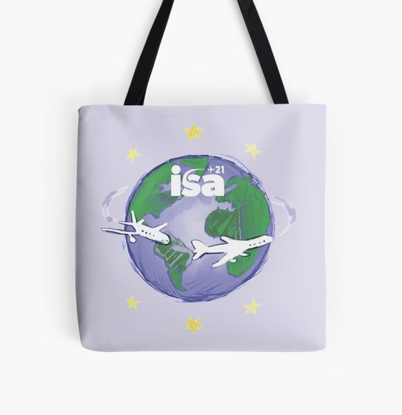Flying around the world All Over Print Tote Bag