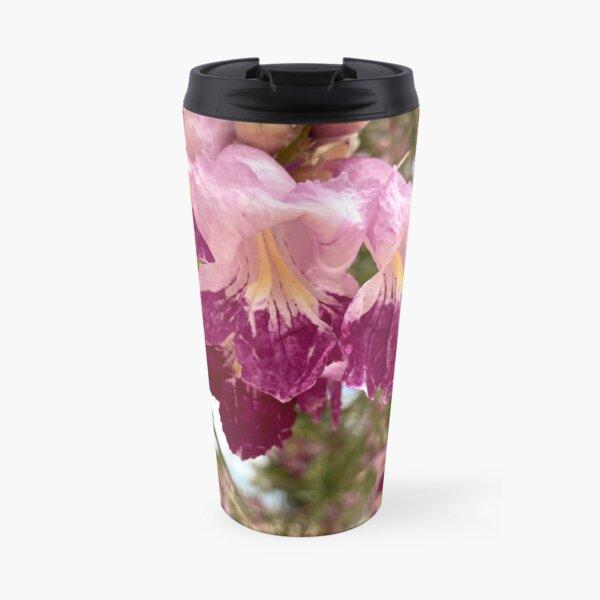 Desert Willow Blooms Up Close Travel Mug