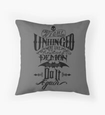 Completely Unhinged Throw Pillow