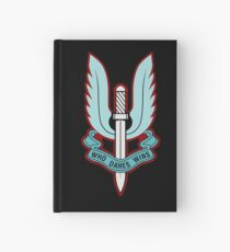 Special Air Service (Blue - No Background)  Hardcover Journal