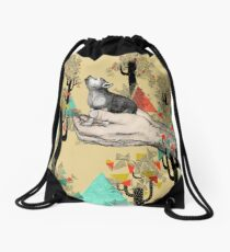 FOUND YOU THERE Drawstring Bag