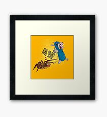 Donkey Spider And The Spider Framed Print