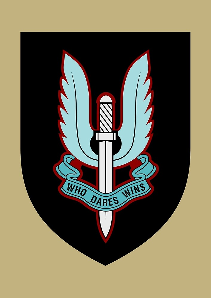 Special Air Service (Blue - Black Shield) by wordwidesymbols