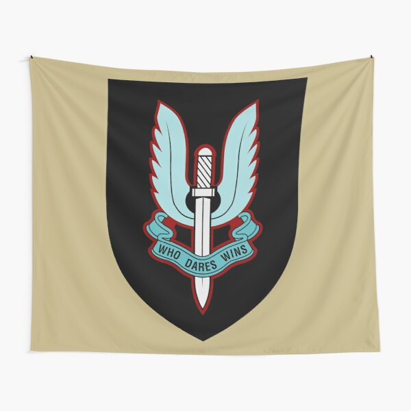 Sas Black Wooden /& Polyester Table Flag FREE UK DELIVERY