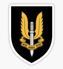Special Air Service (Gold - Black Shield) Sticker
