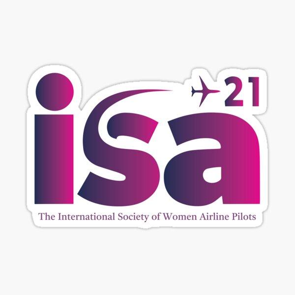 ISA+21 - The International Society of Women Airline Pilots Sticker