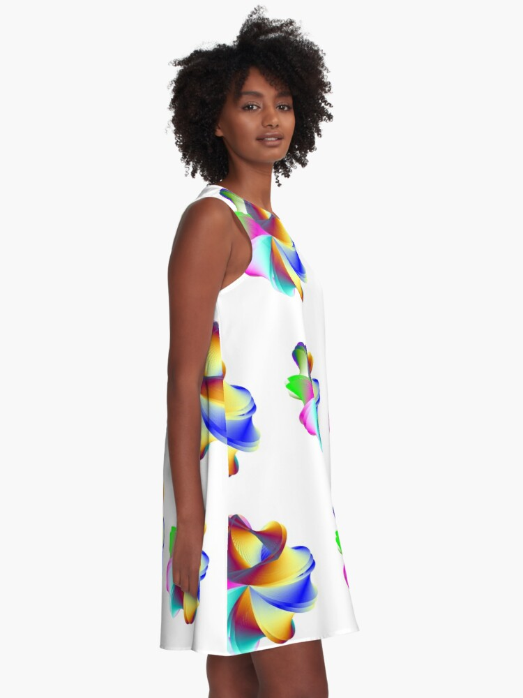 Alternate view of Thermo Nuclear Rainbow A-Line Dress