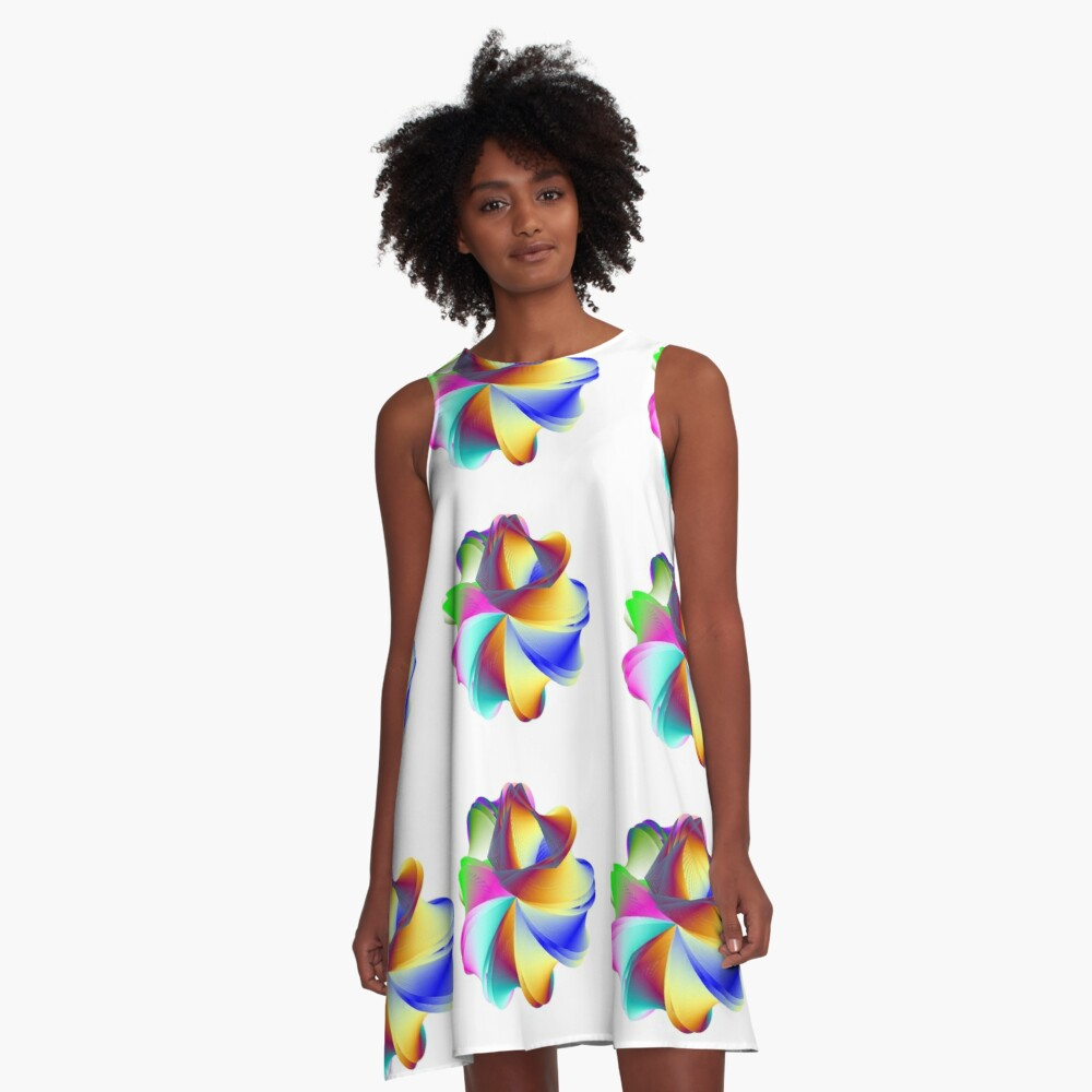 Thermo Nuclear Rainbow A-Line Dress