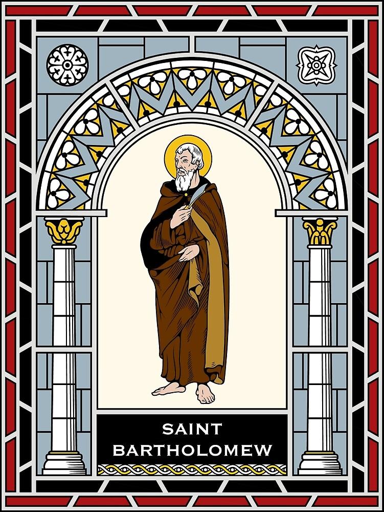 ST. BARTHOLOMEW, THE APOSTLE under STAINED GLASS by CatholicSaints