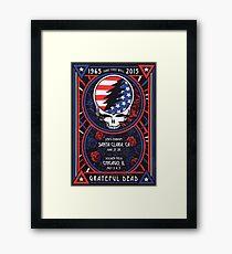 Grateful Dead at Levis Stadium, Santa Clara (50 Years) Framed Print