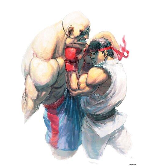 Street Fighter #1 - Sagat vs Ryu by jojosukes