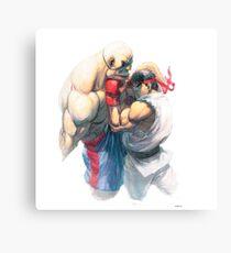 Street Fighter #1 - Sagat vs Ryu Canvas Print