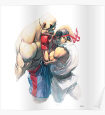 Street Fighter #1 - Sagat vs Ryu Poster