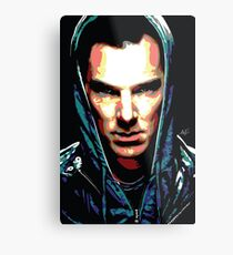 Benedict Cumberbatch: You Think Your World is Safe? Metal Print