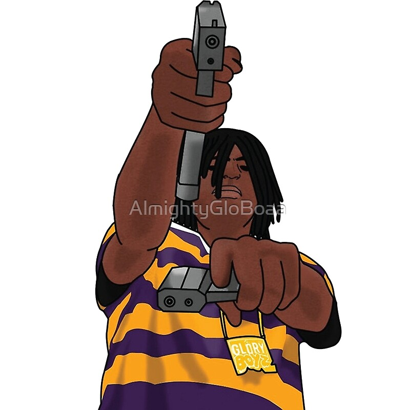 'Chief Keef Toting Gun' Metal Print by AlmightyGloBoaa
