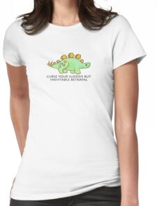 Firefly Wash's stegosaurus quote. Womens Fitted T-Shirt