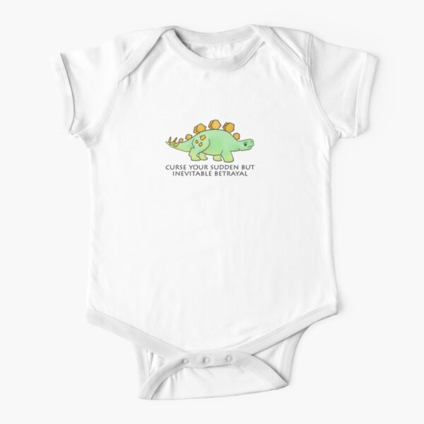 Firefly Wash's stegosaurus quote. Short Sleeve Baby One-Piece