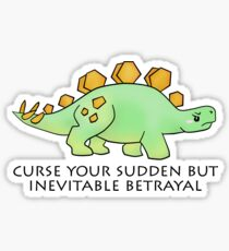 Firefly Wash's stegosaurus quote. Sticker