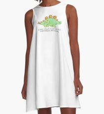 Firefly Wash's stegosaurus quote. A-Line Dress