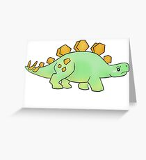 Firefly Wash's stegosaurus quote. (darker backgrounds) Greeting Card