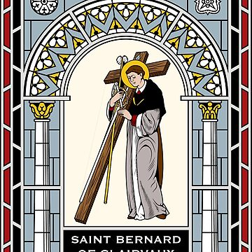 ST.BERNARD OF CLAIRVAUX under STAINED GLASS by CatholicSaints