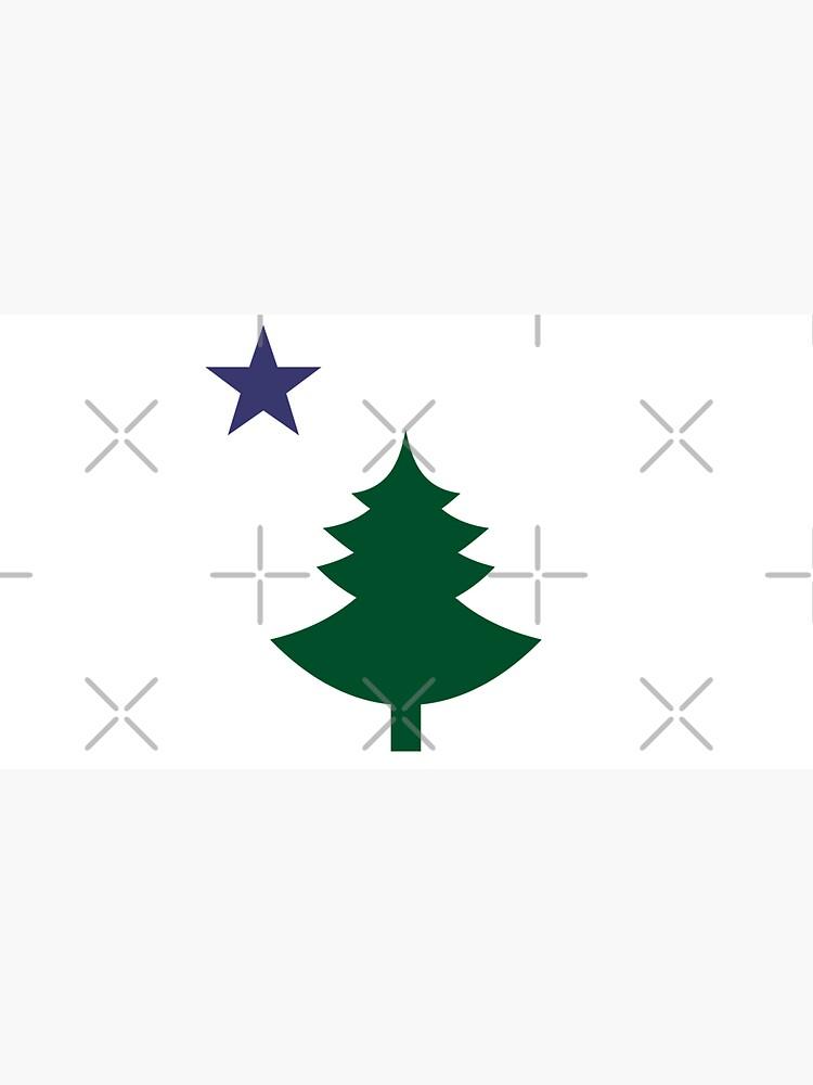 Old Maine State Flag Hat Original Flag Pine Tree Star Dad Hat by dgavisuals