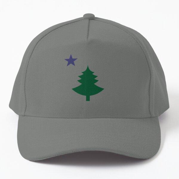 Old Maine State Flag Hat Original Flag Pine Tree Star Dad Hat Baseball Cap